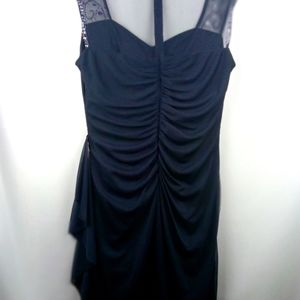 Size 12 Stenay dress navy blue with lace & jewels